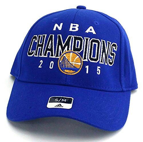 Golden State Warriors New Adidas NBA Finals Champions Blue Era Flex Fit Hat Cap S/M ()