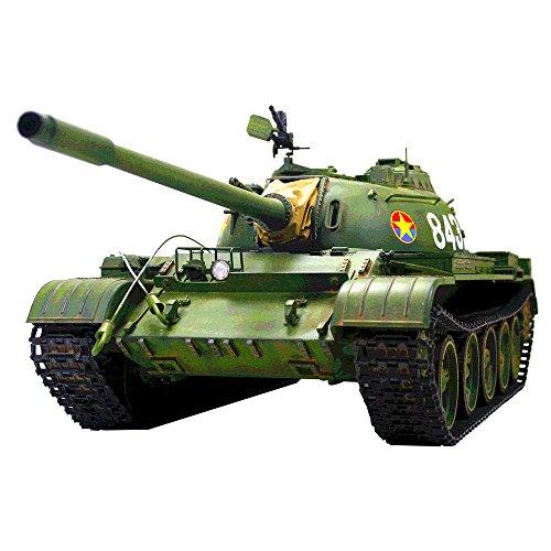 (HOOBEN 1:16 T55A Russian T-55 A Medium Tank RC Dynamic Tanks KIT with Metal Gearbox, Metal Barrel,Metal Sprocket and Idler and Metal Suspension C6602K 1/16 )