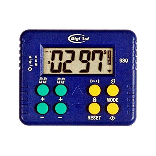 Digi 1st T-930 9999M/9999S Desk Count Up and Countdown Timer with ()