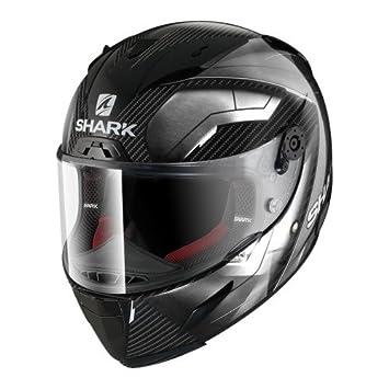 Shark casco Moto RACE-R PRO CARBON Deager DUW, Negro/Blanco, talla