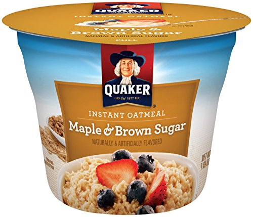Oatmeal Maple Instant (Quaker Instant Oatmeal Express Cups, Maple Brown Sugar, Breakfast Cereal, 1.69 oz Cups (Pack of 12))