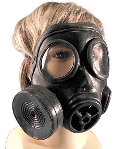 Black Ops Halloween Costumes (Star Power Realistic Look Biohazard Costume Gas Mask, Black, One Size)