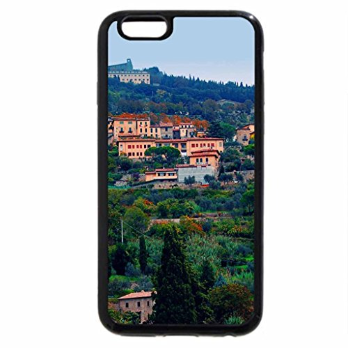 iPhone 6S / iPhone 6 Case (Black) mountainside town in tuscany