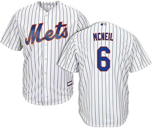 Men's #6 Jeff Mcneil New York Mets Home Jersey L White - New York Mets Baseball Jersey