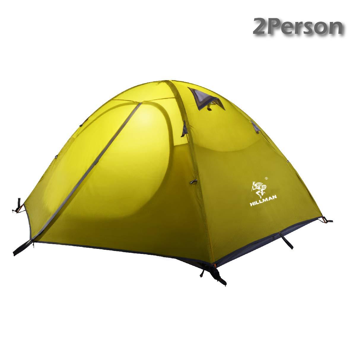 Azarxis Tienda de Campa/ña de 1-2 Persona Impermeable Ligera Carpa de Mochilero Acampar Senderismo Playa