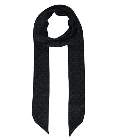 Le Nom Flower Pattern Jersey Knit Skinny Scarf Charcoal At Amazon