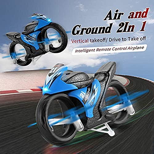 Mini Quadcopter Drone for Kids and Adults,EACHINE E021 Rc Car Racing 2-in-1 Land/Air Mode One Key Switch Flying Motorcycle 2.4G RC Drone Quadcopter