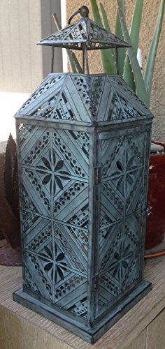 Pottery Barn Filigree Patterned Galvi Lantern - Large from Pottery Barn
