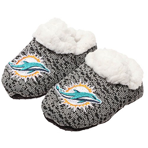 FOCO NFL Infant Knit Baby Bootie Shoe (Miami Dolphins, X-Large (12-24M))