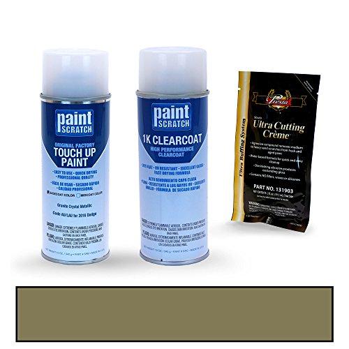 PAINTSCRATCH Granite Crystal Metallic AU/LAU for 2016 Dodge Ram Series - Touch Up Paint Spray Can Kit - Original Factory OEM Automotive Paint - Color Match Guaranteed