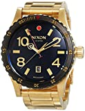 Nixon A277-513 Mens Diplomat SS Gold Black Watch
