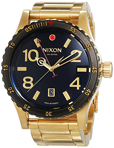 Nixon A277-513 Mens Diplomat SS Gold Black Watch by NIXON (Image #4)