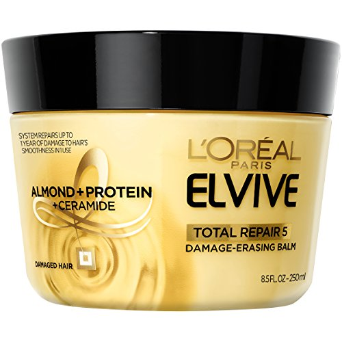 - L'Oreal Paris Hair Care Elvive Total Repair 5 Damage-Erasing Balm, Almond and Protein, 8.5 Fluid Ounce