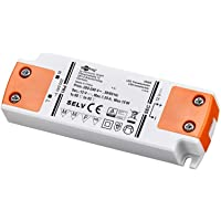 goobay 30005 LED-Transformator, 230 V (AC) till 12 V (DC) för 0.5 till 15 W Lampor, Vit/Orange