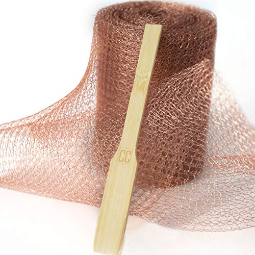 Copper Mesh with Packing Tool – Sturdy 1 lb  Roll - Mouse Rat Pest Rodent  Control - A Non-Rusting Steel Wool Alternative Eco-Friendly Non-Toxic