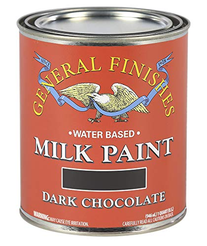 General Finishes QDC Water Based Milk Paint, 1 Quart, Dark Chocolate