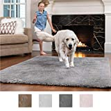 GORILLA GRIP Original Faux-Chinchilla Nursery Area Rug Carpet, (2' x 4'), Super Soft and Cozy High Pile Modern Rugs for Floor, Machine Washable Luxury Shag Carpets for Home Bed/Living Room (Dark Gray)