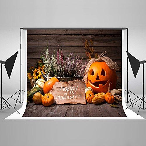 Happy Halloween Vintage Backdrops for Photography Collapsible Cotton Nostalgic Home Décor Background Photo Studio Props pour Toussaint 10x10Ft … -