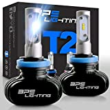 BPS Lighting T2 LED Headlight Bulbs Conversion Kit - 50W 8000 Lumen 6000K