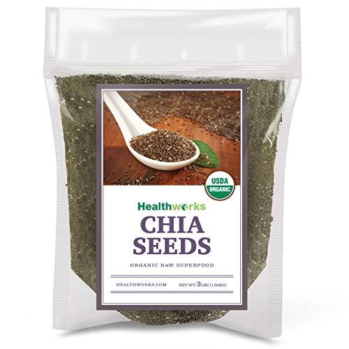 - Healthworks Black Chia Seeds Raw Pesticide-Free, 3lb (3 1lb Packs)