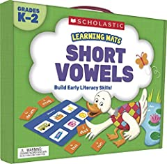 Here's a new fun way to lead children on the road to literacy! Colorful mats and word tiles make learning and practicing phonics fun. Start building a foundation for academic success with the Learning Mats: Short Vowels kit. The kit he...