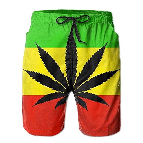 2018 pants Jamaica Flag Men's/Boys Casual Swim Trunks Short Elastic Waist Beach Pants with Pockets by 2018 pants