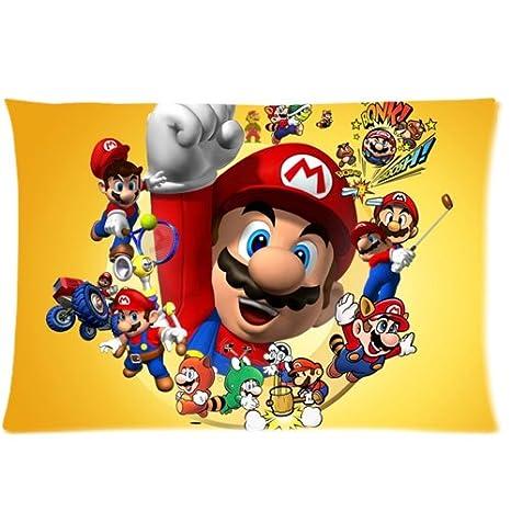 Super Mario Bros Custom Rectangle Pillow cases(Fundas para ...