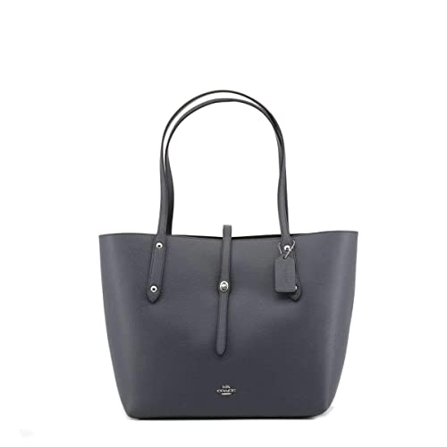 c0c597926f1e Coach Market Polished Midnight Navy Leather Tote Bag Navy Leather   Amazon.co.uk  Shoes   Bags