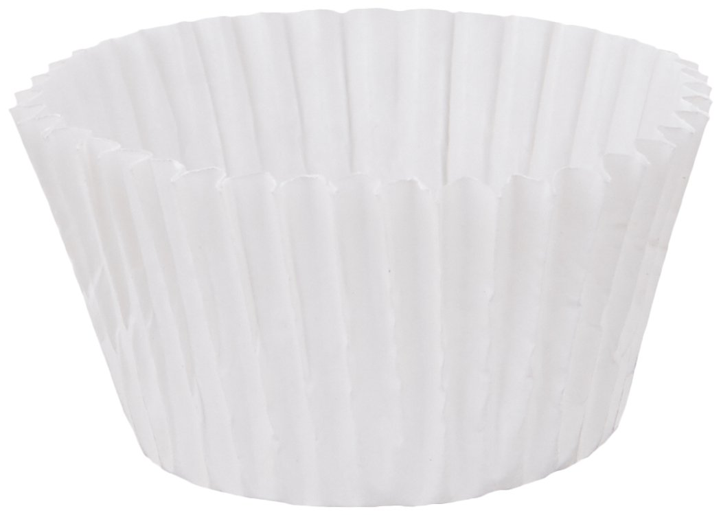 Cybrtrayd 250 Count No.3 Glassine Paper Candy Cups, White