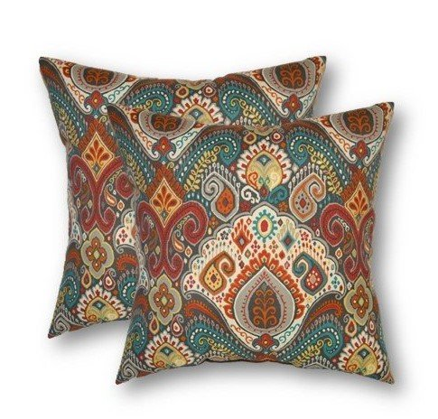 Paisley Pillows Throw Outdoor (Set of 2-17