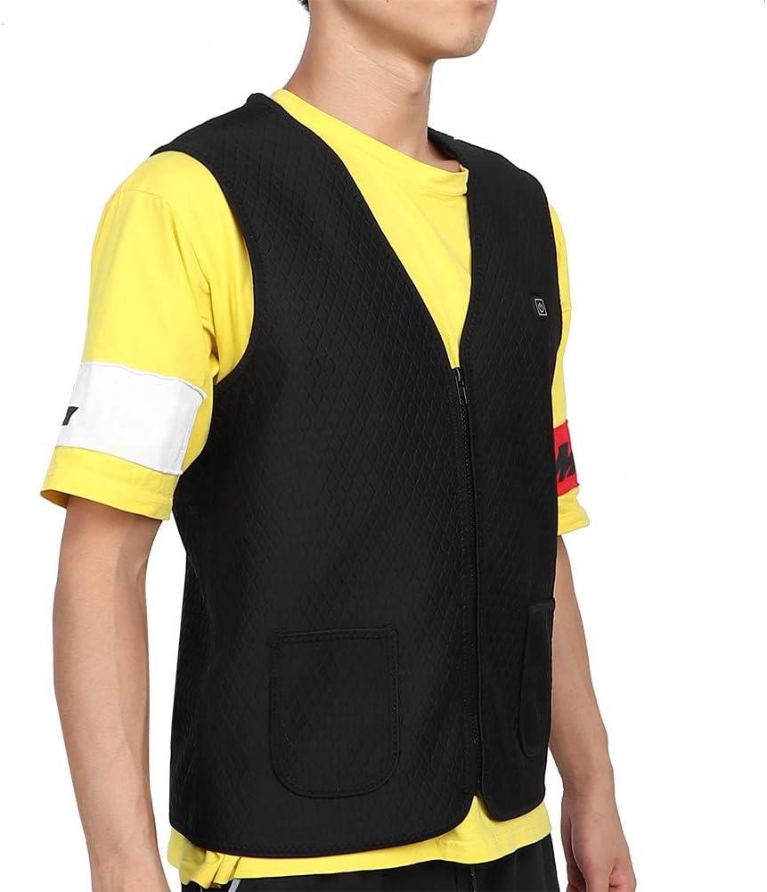 scaldacollo giacca riscaldabile lavabile pad per terapia di riscaldamento 5 PC incorporato Indumenti riscaldati per ricarica USB Gilet riscaldato elettrico L