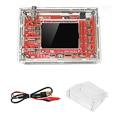 """DSO138 Oscilloscope Kit Open Source with Probe 2.4"""" TFT 1Msps Digital Oscilloscope Kit with DSO138 Case + Probe 13803K for Electronic Learning Set"""