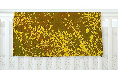 40 x 30 KESS InHouse Iris Lehnhardt Twigs Silhouette Earthy Brown Yellow Fleece Baby Blanket