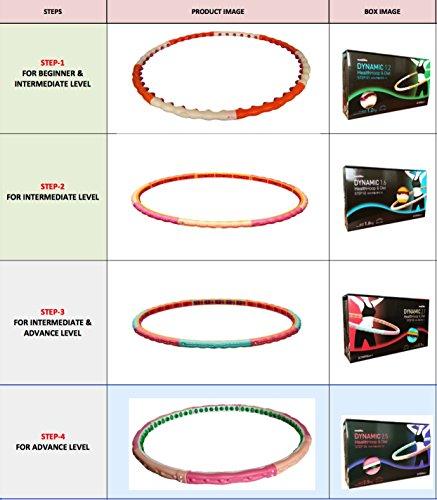 Health Hoop-Dynamic Magnetic Weighted Hoola Hula Hoop Exercise Fitness Diet 2.1kg 4.63lb Step 3