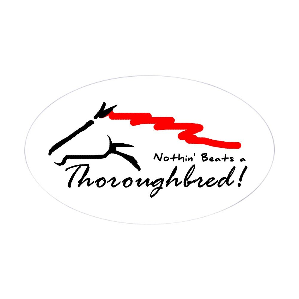Amazon com cafepress thoroughbred oval sticker oval bumper sticker euro oval car decal home kitchen