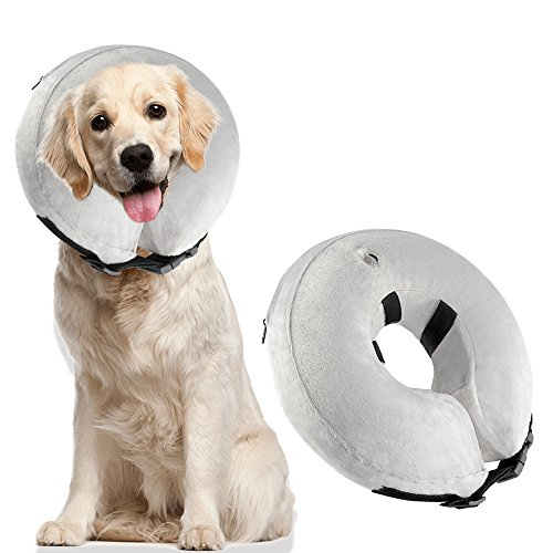 BAODATUI Dog Cone Collar Soft - Inflatable Dog Collars for After Surgery, Protective Collar for Dogs,Adjustable Pet Recovery E-Collar for Small Medium Large Dogs (Large) by BAODATUI