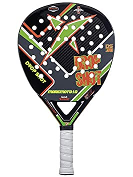 DROP SHOT Maremoto 1.0 - Pala de pádel, Color Negro/Gris / Verde/Naranja, 38 mm: Amazon.es: Deportes y aire libre