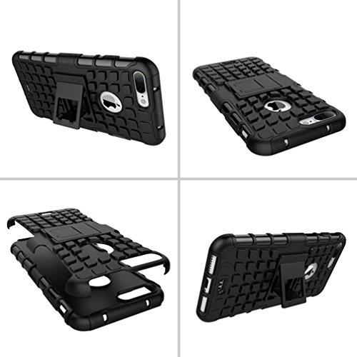 """5.5"""" iPhone 7 Plus Coque, AOFad Case Protection des lourds Béquille Soft Feel vert Plastique Vidéo Frais Accessoires Série Pour Femme Homme L254"""