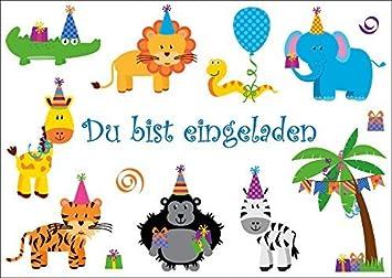 Schön 6 Lustige Einladungskarten (10654): U0026quot;PARTY TIERE FEIERN  GEBURTSTAGu0026quot; Für