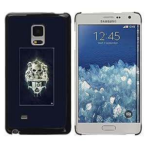 Caucho caso de Shell duro de la cubierta de accesorios de protección BY RAYDREAMMM - Samsung Galaxy Mega 5.8 - Pesadilla Skulls