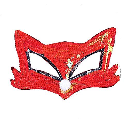 Chrismas Party Masks Cosplay Festival Performance Fox Mask Half Face Animal (Cry Baby Movie Halloween Costume)