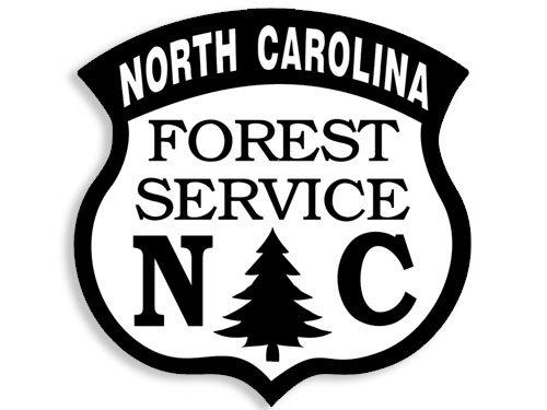 North Carolina Forest Service Sticker nc foresty Logo Hike American Vinyl Shield Shaped White