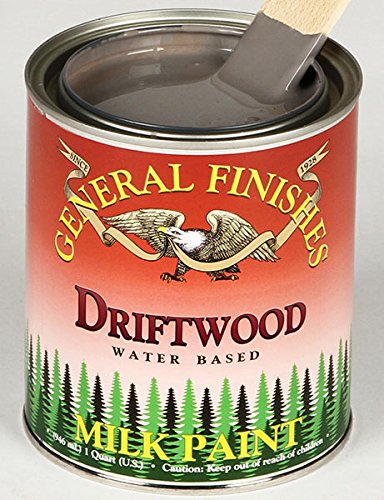 Distress Wood Finish (General Finishes QD Milk Paint, 1 quart, Driftwood)