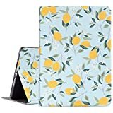 ipad 9.7 2017 2018 Case - ipad air 1 2 Case - Vimorco Premium Leather Protect Covers - Adjustable Stand with Auto Wake Sleep - Blue Lemon