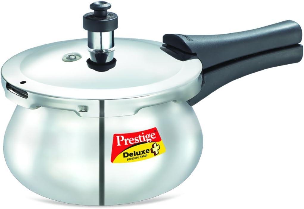 Prestige Deluxe Stainless Steel Baby Handi Pressure Cooker, 2-Liter, 2 LITER HANDI