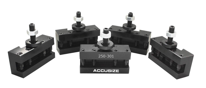 AccusizeTools - 5 Pcs of CXA Turing and Facing Holder, Quick Change Tool Holder, 0250-0301x5