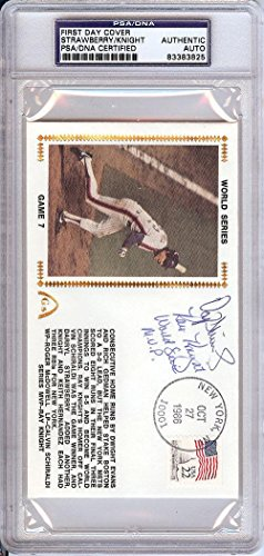 Darryl Strawberry & Ray Knight Autographed Signed First Day Cover 83383825 PSA/DNA Certified MLB Cut Signatures