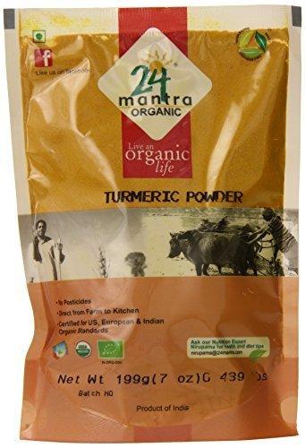 24 Mantra Organic Tumeric Powder, 7 Ounce by 24 Mantra Organic