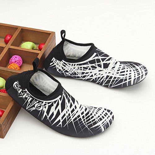 LUUB Männer und Frauen Quick-Dry Sport Barfuß Wasser Haut Schuhe Aqua Socken für Beach Pool Sand Schwimmen Surf Yoga Wassergymnastik Weiß
