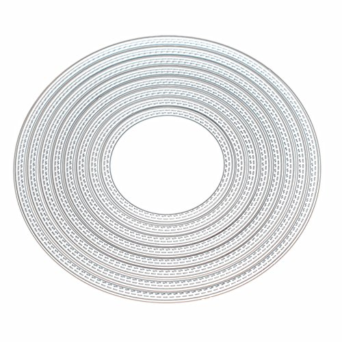 Kwan Crafts Large Size 15cm Double Sew Thread Round Circle Metal Die Cutting Dies for DIY Scrapbooking Photo Album Embossing 8062704 by Kwan Crafts
